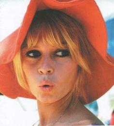 brigitte bardot in a fun and sunny sun hat