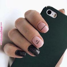 nail art designs short nails for spring 40 Stylish Nails, Trendy Nails, Cute Nails, Hair And Nails, My Nails, Nail Art Vernis, Nails 2018, Burgundy Nails, Manicure E Pedicure