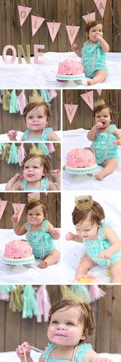 First Birthday Cake Smash Photo Shoot