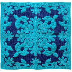 Hawaiian Quilts - Honu - Turtle - Wall Hanging Quilt 42 x 42 - IslandArtStore.com
