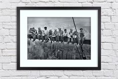 New York Construction Workers Lunch atop a Skyscraper -  Large Mounted & Framed Poster Art Print A2 - 31 x 24 Inches  ( 75 x 61 cm ) by TheRedbusGallery on Etsy https://www.etsy.com/uk/listing/275188224/new-york-construction-workers-lunch-atop