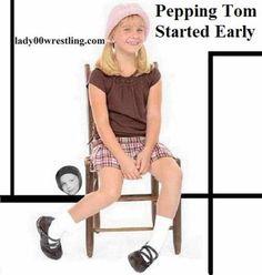 Pepping Tom Retro Vintage Public Show Schoolgirls Women Wrestling DVDs Pictures