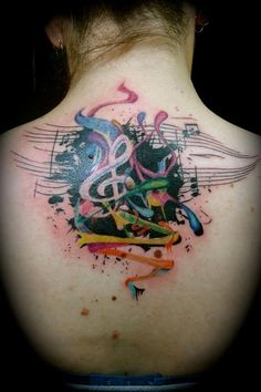 Tattoos Gt New School Tattoos Page 3 Music And Abstract Color Design 450x675 Pixel