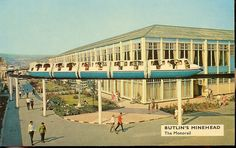 Butlins Minehead - Monorail - saved for 3 years to take us 4 kids there for a week. Butlins Holidays, British Holidays, Holiday Day, Family Holiday, British Seaside, Beach Town, Old Postcards, Vintage Travel Posters, Old Pictures