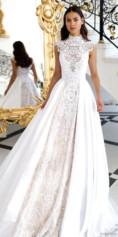 White wedding dress. Brides dream about having the ideal wedding, but for this they need the most perfect bridal dress, with the bridesmaid's outfits enhancing the wedding brides dress. Here are a number of suggestions on wedding dresses.
