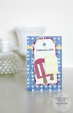 Reverse Confetti | Let's Chill Confetti Cuts dies, Fancy Word Coordinates stamp set | card by Amy Tsuruta | www.reverseconfetti.com