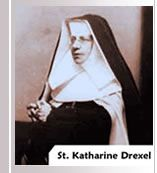 St. Katharine Drexel, the foundress of the Sisters of the Blessed Sacrament, built St. Francis de Sales High School for young black women.