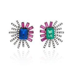 "Carol Kauffmann Jewellery (@carolkauffmannjewellery) on Instagram: ""Duo Earrings by Carol Kauffmann!  #couturedailydose #thisiscouture"""