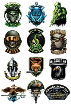Tactical Temporary Tattoos for Your Covert Operations  Here is a series for all you hardcore military gamers out there. These prestige temporary tattoos will keep you styling while you are out punishing unethical behavior. Series of 12 Tattoo designs includes: Airborne Eagle Trident Fox Hound Ghost Helmet Ghost Recon