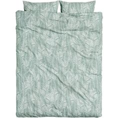 Leaf-patterned Duvet Cover Set $49.99 ($50) ❤ liked on Polyvore featuring home, bed & bath, bedding, duvet covers, king size duvet sets, grey king size bedding, king palm tree, gray duvet set and gray king size bedding