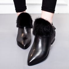 113.75$  Buy here - http://alie20.worldwells.pw/go.php?t=32781879334 - 2017 Fashion Shoes Woman Real Fur Boots Genuine Leather Women Ankle Boots Female Casual Slip On Shoes For Women Boots SIZE 35-40