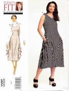 Vogue Sewing Pattern 1297 Misses'/Women's Plus Size 10-32W Sandra Betzina Easy Pullover Knit Dress
