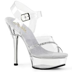 7ab287a3a98 ALLURE-608R Pleaser Sexy Shoes 5 1 2 Inch Stiletto Heel Platforms  Rhinestone Sandals