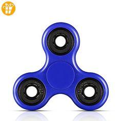 Famz Fidget Hand Spinner-Set Hand relax stress Tri Blau Hohe Geschwindigkeit (ABS) - Fidget spinner (*Partner-Link)