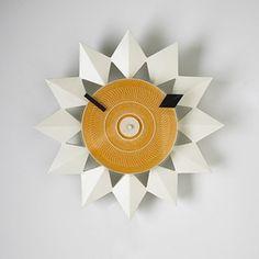George Nelson & Associates #2267-B Diamond Markers Wall Clock for Howard Miller, 1955.