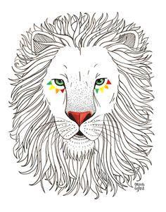 """""""LION"""" Print by my sweet friend @Oana Befort $25"""