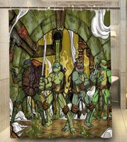 Custom Teenage Mutant Ninja Turtles Bathroom Shower Curtain 140x180cm Bath Waterproof Polyester Curtains Cheap