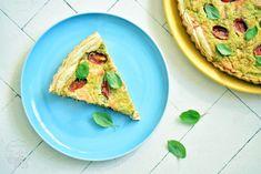 OBIADY, TARTY, WYPIEKI Tarta z brokułami, łososiem i pomidorami