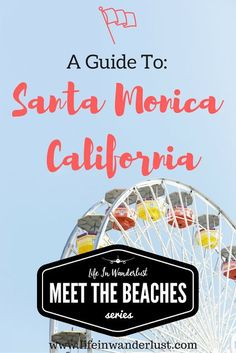 I'm sharing restaurants, hot spots and things to do by the Santa Monica Pier area! California Camping, California Vacation, California Dreamin', Canada Travel, Travel Usa, Disneyland, San Francisco, San Diego, Santa Monica California