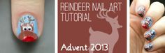 Advent Tutorial: Reindeer | She Who Does Nails
