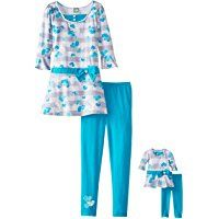 Dollie & Me Big Girls' Dress Tunic with Bell Sleeves and Legging Set