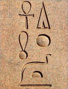"Hieroglyphs ~Translation (T to B): ""Given Life, like Re, Forever"". GIVEN LIFE THROUGH RE, FOREVER'."