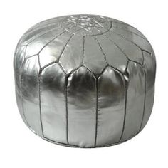Contemporary Leather Ottoman (Morocco) | Overstock.com