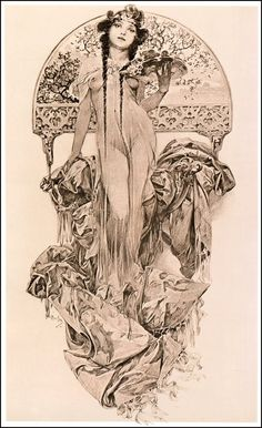 jennifermaidment:  Alphonse Mucha sketch