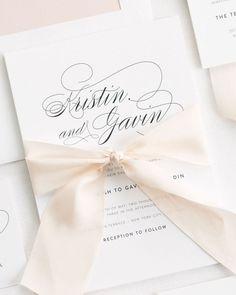 Classic Ribbon Wedding Invitations