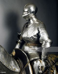 Stock Photo : Armor of man-at-arms in steel, made in Innsbruck by armourer Konrad Treytz Younger, 1520, Austria, 16th century
