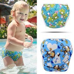 Reusable Swim Diaper 2017 Fashion Baby Swimwear Girls Toddler Diaper Cartoon Diapers for Swimming Brand Designer Baby Swimsuit