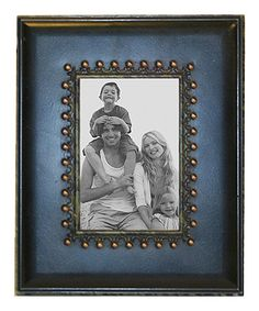 Take a look at this Blue & Brown Studded 3'' x 5'' Picture Frame by VIP International on #zulily today!