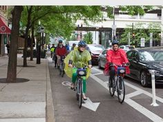Great article about how protected bike lanes actually benefit a city economically. bikesbelong #bike #cycling #commute