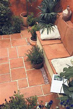 Terracotta tile paving: garden by barton fields landscaping supplies - Terracotta - Garden Floor Garden Tiles, Patio Tiles, Garden Floor, Garden Paving, Terrace Garden, Outdoor Tiles Patio, Terrace Tiles, Back Gardens, Small Gardens