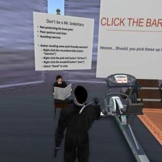 The exercise education area from the RA display in SL