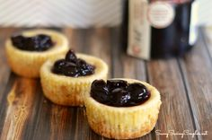 Easy Mini Gluten Free Cheesecakes with NAR Sour Cherry Preserve
