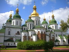 Saint Sophia Cathedral, Kiev, Ukraine.  Founded  and built beginning in 1011 by Grand Princes of Kievan Rus' Vladimir The Great and his son Yaroslav I The Wise .  it is a UNESCO World Heritage site and celebrated its official 1000 year anniversary in 2011.  Yaroslav's burial site and other Kiev-Rus nobility.  My 30th and 31st Great Grandfathers.