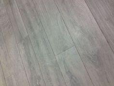 Grey wood effect floor tiles