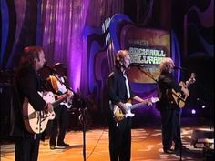 "Crosby, Stills & Nash with James Taylor and Emmylou Harris -- ""Teach Your Children"" 1997 at the R & Roll Hall of Fame Inductions."