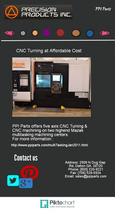 CNC Turning at Affordable cost.