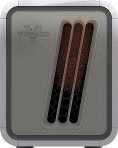 Vornado - Infrared Dual Zone Electric Heater - White/Silver
