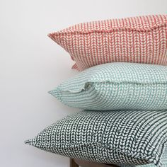 Elle Kay Fabrics Speck Cushion covers available in 3 colours. Tangerine, Duck Egg and Emerald Black Cushions, Scatter Cushions, Pillow Inspiration, Thing 1, Fabric Labels, Textiles, Cushion Covers, Bed Pillows, Mosaic