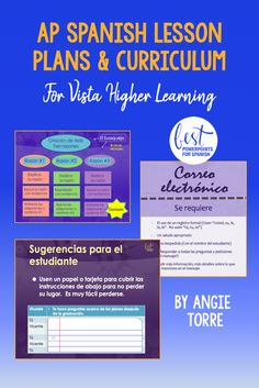 AP Spanish Lesson Plans and Curriculum for an Entire Year Vista Higher Learning High School Spanish, Ap Spanish, Spanish Lesson Plans, Spanish Lessons, Ted, Invoice Design, Higher Learning, French Teacher, Spanish Language