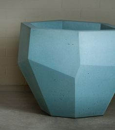 Quartz Series - Precast Concrete Planters Detail You can select nearly any color for these planters... I love the geometric, modern yet simplistic appearance of them.
