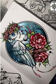 45 Ideas Tattoo Animal Mandala Doodles For 2019 Cat Tattoo, Tattoo Drawings, Body Art Tattoos, Art Drawings, Dream Tattoos, Future Tattoos, Illustrations, Illustration Art, Mandala Doodle