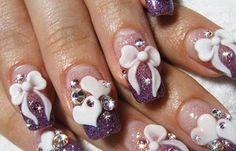 Diseños de uñas lazos, Diseños de uñas con lazos.   #diseñodeuñas #nailsCLUB #uñasbonitas