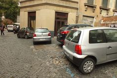 No parking correctly, that would be crazy #car #rome #italy #parked