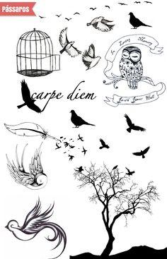 tattoos of sparrows | Desenhos para tatuagem, imagens para tatuagem,tatuagens curiosas
