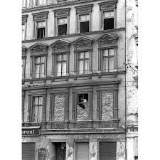 1 October Windows of a house located on the eastern side of the wall are bricked up after East Berlin citizens escaped to the west from the windows Somewhere In Time, Berlin Wall, Vintage Photography, Multimedia, 19th Century, Fun Facts, Brick, Germany, Construction