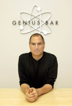 Steve Jobs shows off 1st Apple Retail Store Genius Bar • Apple Retail launched 2001 May 15 with Tysons Corner Center in VA, USA